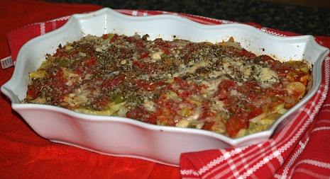 Yellow Squash Oregano Casserole