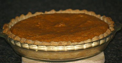 fresh baked sweet potato pie