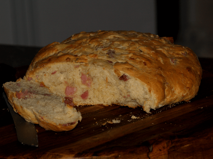 Ham and Cheese Bread Recipe Sliced