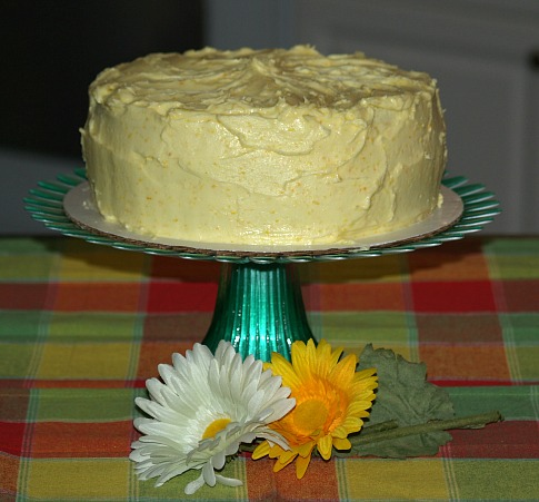 lemon yogurt cake with a citrus frosting